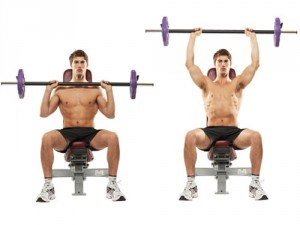 Barbell Seated Military Press