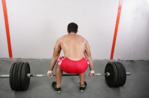 Dead lifts will work your entire body hard.