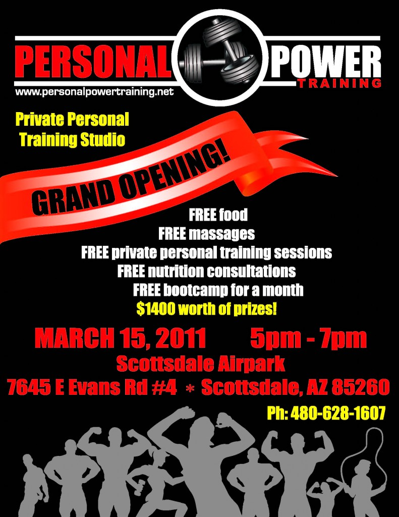 personal  power trainer grand opening