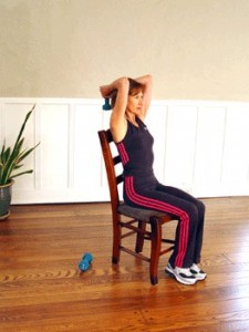 Weighted Neck Extensions in Sitting Position