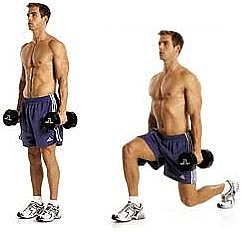 Lunges are a great all-around thigh builder.