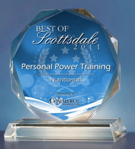 Personal Power Training top personal trainer in scottsdale award