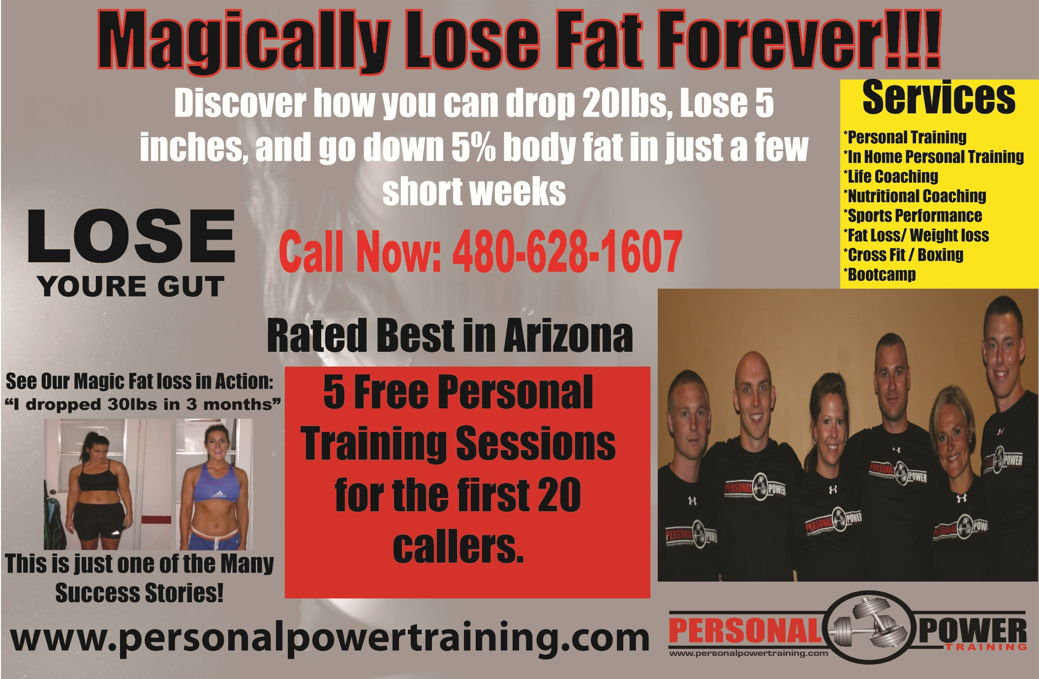 Fitness Ad in Scottsdale